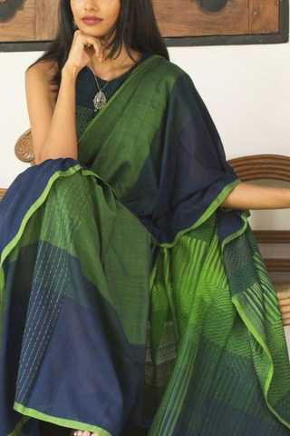 Blooming Green Colored Soft Silk Fancy Partywear Functional Saree - CD199 30""