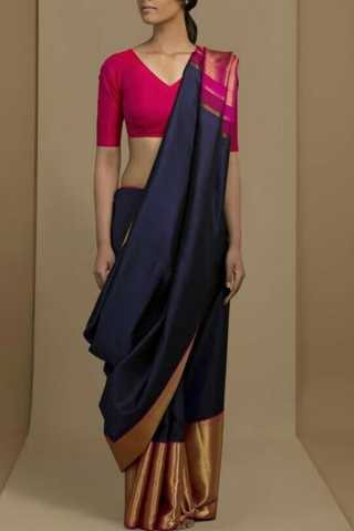 Awesome Pink Blouse Soft Silk Fancy Partywear Functional Saree - CD217