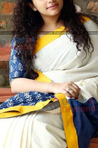 Entrancing White Colored Designer Soft Silk Partywear Saree - CD232