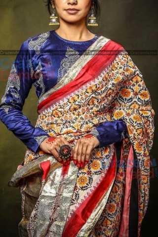 Pleasant Multi Colored Designer Feative Wear Soft Silk Partywear Saree - CD236