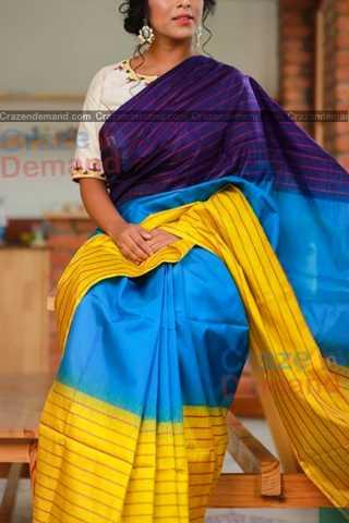 Adorable Multi Colored Designer Soft Silk Festivewear Saree - CD256