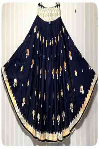Charming Blue Color Satin Silk Printed Free Size Lehenga - CG145