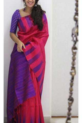 Graceful Pink Color Soft Silk Designer Sarees - CND1218