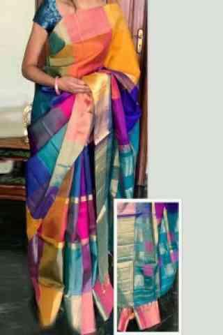 Stylish Multi Color Soft Silk Designer Sarees - cnd712