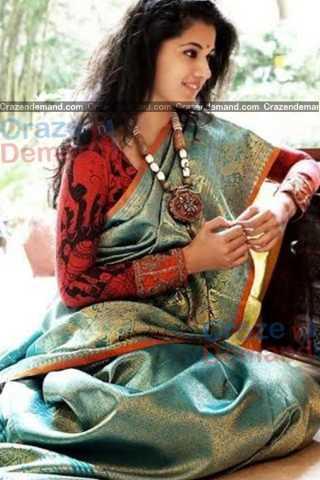 Refreshing Multi Colored Karwa Chauth Special Soft Silk Festive Wear Saree - CD336