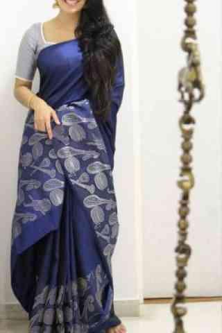 Blooming Blue Color Soft Silk Designer Sarees - cnd1002