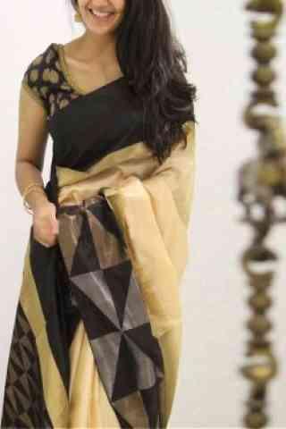 Attractive Yellow Color Soft Silk Designer Sarees-cnd1074