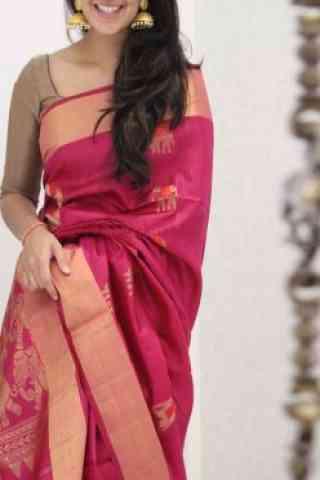 Latest Pink Color Soft Silk Saree - cnd1086