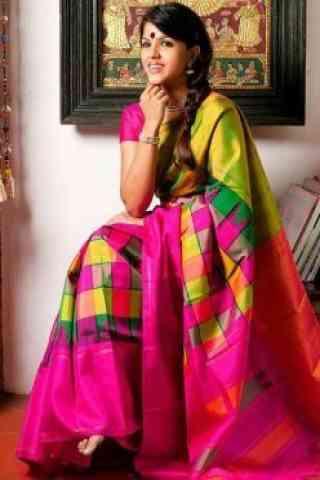Stimulating Multi Color Soft Silk Saree - cnd599