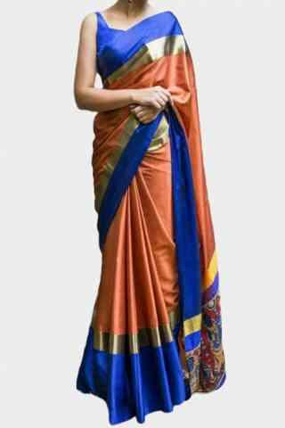 Dreamy Orange Color Soft Silk Designer Sarees - cnd626