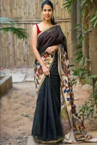 Outstanding Black Color Soft Silk Designer Sarees - cnd698