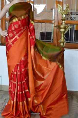 Forever red Color Soft Silk Saree - cnd923