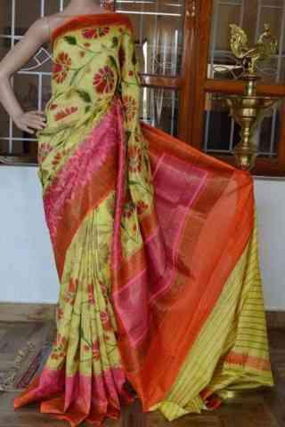 Glammrous Multi Color Soft Silk Designer Sarees - cnd929