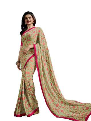 Casual Printed Major Georgette Saree With Unstitched Banglory Silk Blouse Piece - NetrSari427