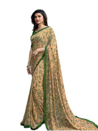 Casual Printed Major Georgette Saree With Unstitched Banglory Silk Blouse Piece - NetrSari432