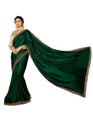 Green Rangoli Silk Saree With Unstitched Banglory Silk Blouse - NetrSari454