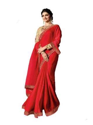 Pink Rangoli Silk Saree With Unstitched Banglory Silk Blouse - NetrSari456