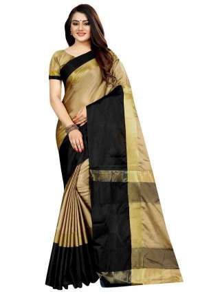 Women Cotton Mix Silk Saree With Unstitched Matching Blouse SON53
