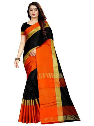 Women Cotton Mix Silk Saree With Unstitched Matching Blouse SON57