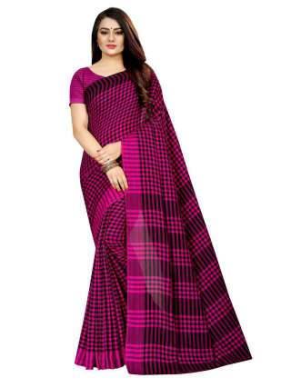 Women Cotton Mix Silk Saree With Unstitched Matching Blouse SON62
