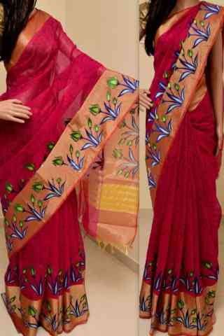 Graceful Multi Color Soft Silk Saree - SB777  30""