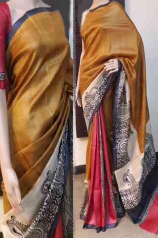 Forever Multi Color Soft Silk Saree - SB785  30""