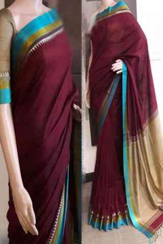 Innovative Maroon Color Soft Silk Saree - SB787  30""