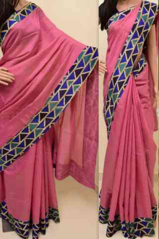 Modern Pink Color Soft Silk Saree - SB836  30""