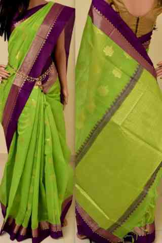 Artistic Green Color Soft Silk Saree - SB847  30""
