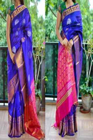 Artistic Blue Color Soft Silk Saree - SB854  30""