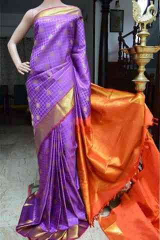 Engrossing Purple Color Soft Silk Designer Saree - SB876  30""