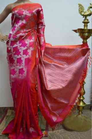 Stylish Multi Color Soft Silk Designer Saree - SB877  30""