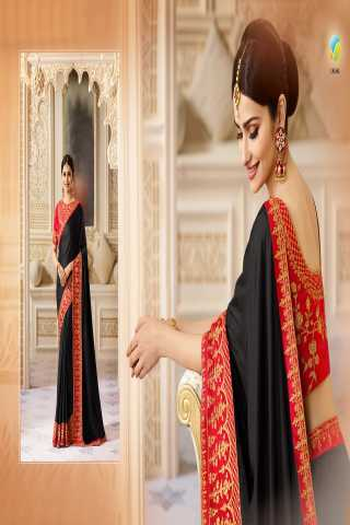 "Elegent Sana Silk Partywear DesignerBlouse Piece Saree_SB19003  30"""