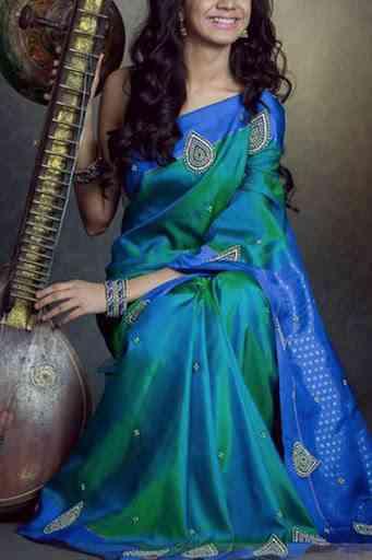 "Excellent Multi Colored Soft Silk Saree - CD102  30"""