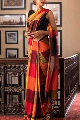 """Adorable Multi Colored Soft Silk Saree - CD108  30"""""""