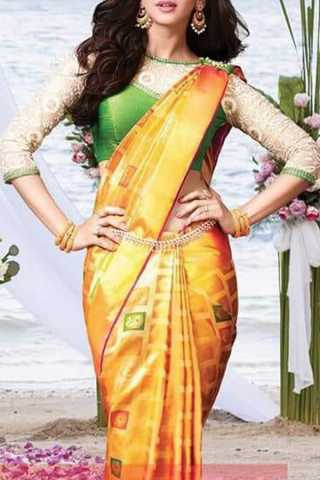 Majestic Yellow Colored Soft Silk Saree - CD129  30""