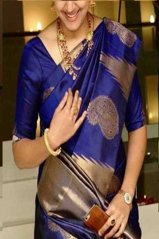 Exclusive Blue Colored Soft Silk Saree - CD135  30""