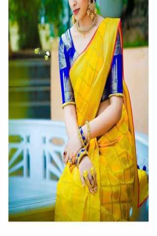 """Adoring Yellow Colored Soft Silk Saree - CD139  30"""""""