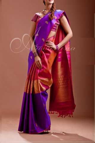 """Alluring Multi Colored Soft Silk Saree - CD142  30"""""""