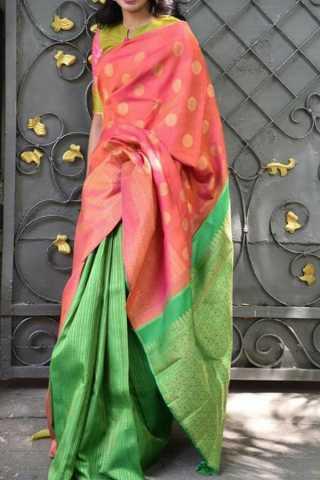 "Gorgeous Multi Colored Soft Silk Saree - CD150  30"""