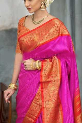 Delightful Pink Colored Soft Silk Saree - CD162  30""