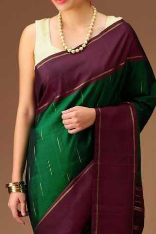 Preferable Green Colored Soft Silk Saree - CD164  30""