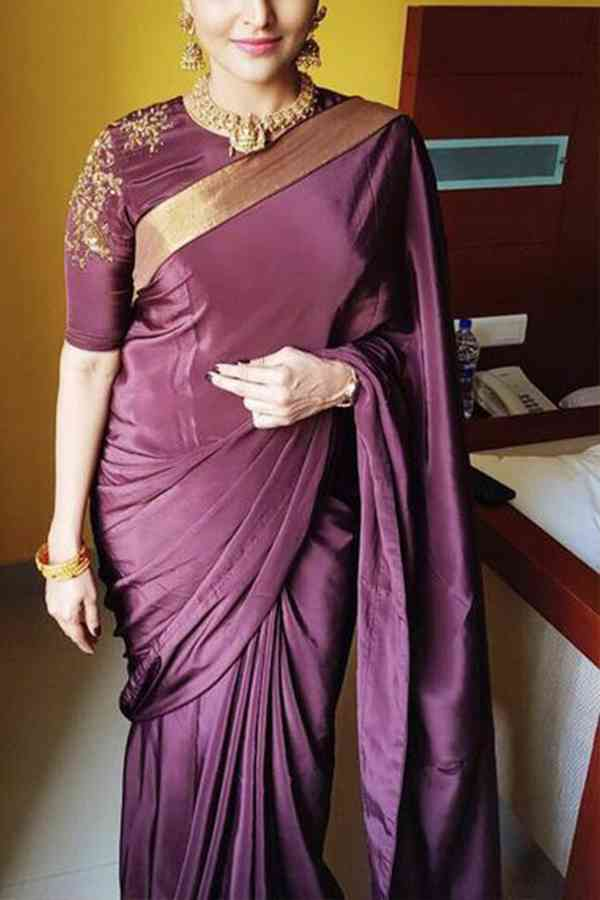 Adoring Magenta Colored Soft Silk Saree - CD168  30""