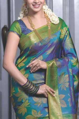 """Attractive Multi Colored Soft Silk Saree - CD178  30"""""""