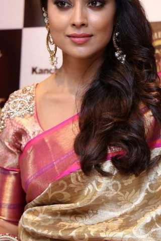 "Stunning Beige Colored Soft Silk Saree - CD189  30"""