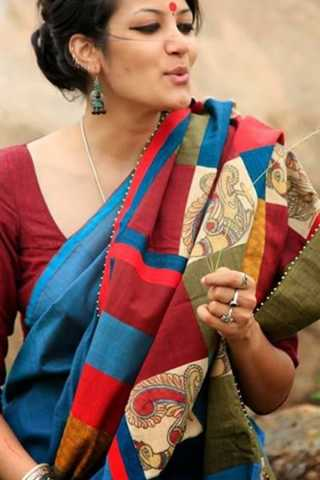 """Alluring  Multi Colored Soft Silk Fancy Partywear Functional Saree - CD203  30"""""""