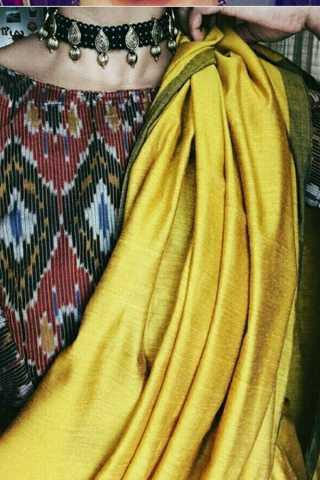 "Stunning Yellow Soft Silk Fancy Partywear Functional Saree - CD205  30"""