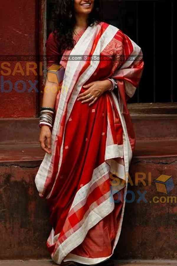 Glowing Red Colored Designer Soft Silk Partywear Saree - CD233  30""