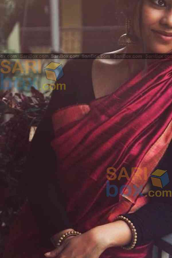"Charming Maroon Colored Designer Festive Wear Soft Silk Partywear Saree - CD241  30"""