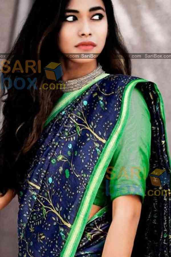 "Deserving Blue Colored Designer Soft Silk Festivewear Saree - CD247  30"""